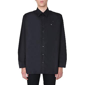 Raf Simons 2022821000700099 Chemise en coton noir Pour homme