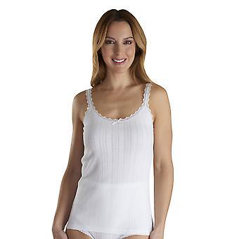 Slenderella VUW300 Women's Vedonis White Cotton Camisole Top