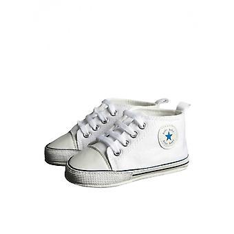 Modern White Christening Shoe, Baby Boys