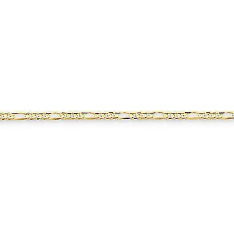 10 k Gelbgold solid Concave poliert 3,0 mm Figaro Kette Halskette Hummer Kralle Schmuck Geschenke für Frauen - Länge: 16 bis