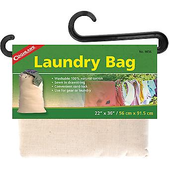 Coghlan's Laundry Bag, Washable 100% Natural Cotton, Drawstring w/ Cord-Lock
