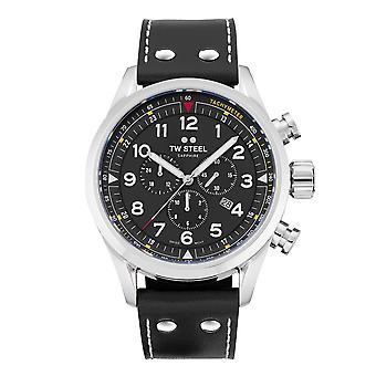 TW الصلب TWSVS202 فولانتي الأسود قرص كرونوغراف ساعة اليد