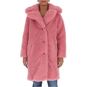 Chiara Ferragni Cfg013pnk Femmes's Manteau en polyester rose