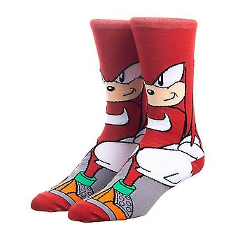 Sonic the Hedgehog Knuckles Character Crew Socks