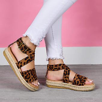 Brinley Co. Womens Crossover Espadrille Sandal