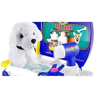 Dieren verzorging speelgoed set - honden schoonheidssalon