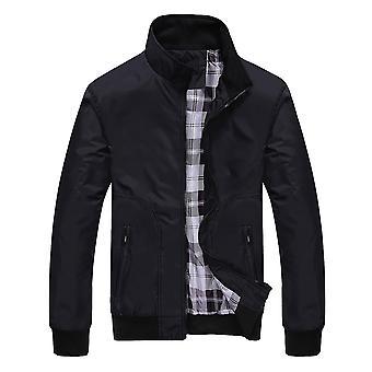 Allthemen Men's Zipper Casual Jacket 2 Pockets Solid Thin Lightweight Autumn