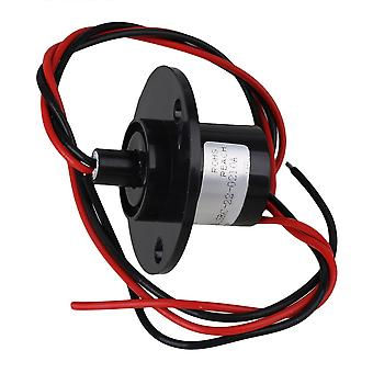 Black 500RPM 2 Wires 240V AC/DC 10A Metal Platic Capsule Conductors Slip Ring