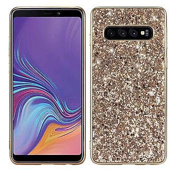 Shiny Case for Samsung Galaxy M20 Gold honghaowei-90