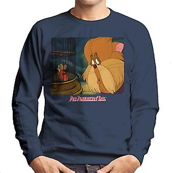 An American Tail Fieval In A Cage And Tiger Men's Sweatshirt