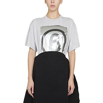 MM6 Maison Margiela S32gc0582s23588858m Naisten's Harmaa Puuvilla T-paita