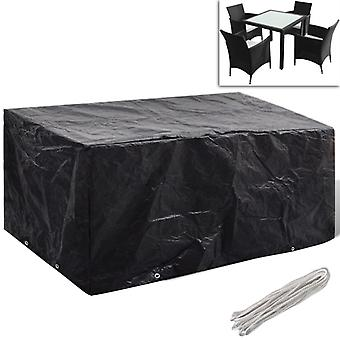 vidaXL גן רהיטים לכסות 4 אנשים פולי ראטאן 8 Eyelets 180 x 140cm
