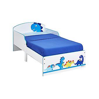 Dinosaurs Toddler Bed Plus Fibre Mattress