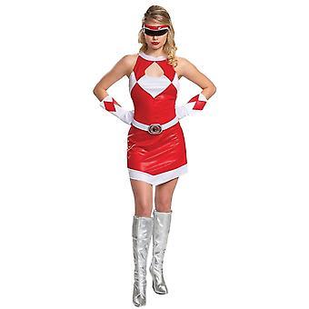 Women's Red Ranger Deluxe Costume - Mighty Morphin
