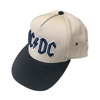 ACDC Baseball Cap Navy Classic Band Logo nieuwe officiële Zand Snapback