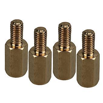 50 x férfi női PCB szál sárgaréz standoff pillérek standoff távtartók M3 8mm + 6mm