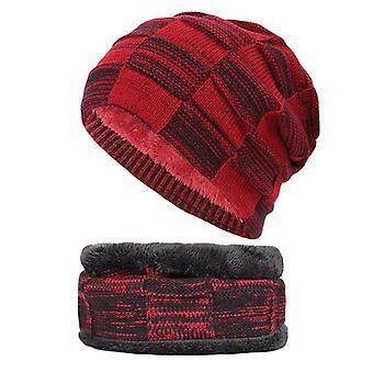 Frauen / Männer dick Futter Casual Winter Hut Set