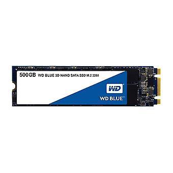 Western digital wds500g2b0b wd blue 3d nand internal ssd m.2 sata, 500 gb - black single
