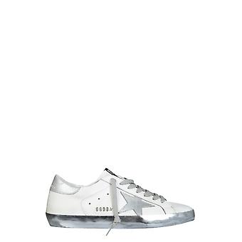 Golden Goose Gmf00101f00031480185 Men's Silver/white Leather Sneakers