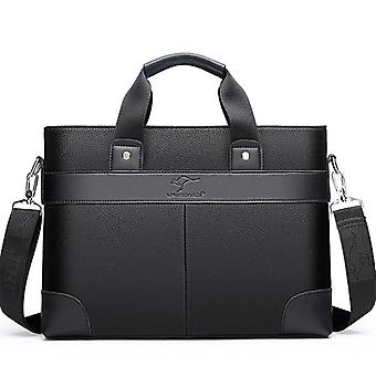 High Quality Totes Leather Men Laptop Handbag