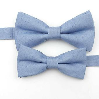 Lovely Parent-child Bow Tie Sets, 100% Cotton Butterfly Casual Bow Tie