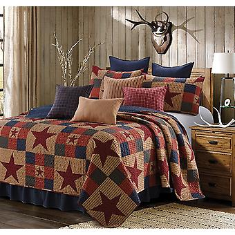 Spura Home 3-Piece Bedspread Mountain Cabin Red Quilt Set