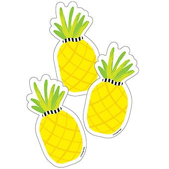 Simply Stylish Tropical Pineapple Cut-Outs, 36 Per Pack, 3 Packs