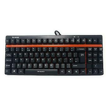 Mechanical Gaming Keyboard USB Rapoo VPRO V500 Linear Yellows Switches UK Layout