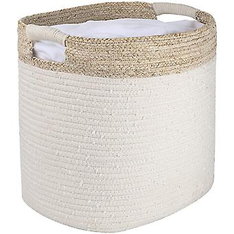 LA JOLIE MUSE Cotton Rope Storage Basket, Organizer Bin for Baby Toys Laundry Blanket