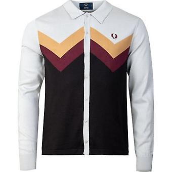 Fred Perry Re-issues Chevron Button Through Knitted Shirt