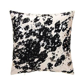 "Bucky Boy Decorative Square Pillow 18"" X 18"", Black/Silver"
