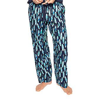 Cyberjammies Elliot 6563 Menăs Navy Blue Mix Surfboard Bumbac Pijama Pant