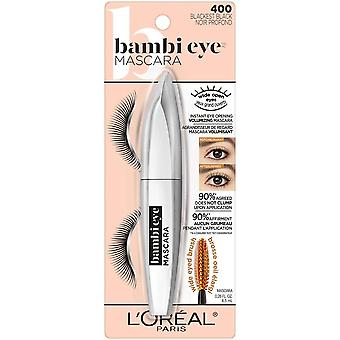 L'Oreal Paris Bambi Eye Washable Mascara, Doe Eyes, Lasting Volume, Length & Lift, Definition, No Clumping, No Smudging, Washable Blackest Black , 0.28 Fl. Oz., 1Count