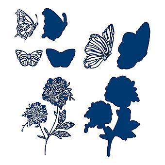 Tattered Lace Butterflies & Flora Die Set