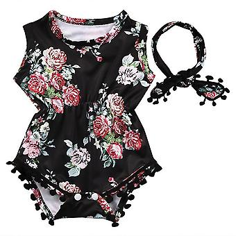 Bump Baby Girl Floral Bodysuit And Headband Outfit