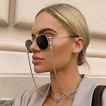 أزياء قراءة النظارات سلسلة النساء نظارات شمسية معدنية الحبال النظارات النظارات لانايارد