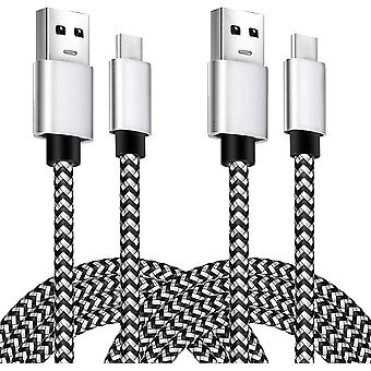 2 Pack Nylon Braided Fast Charge 10ft Usb C Cable