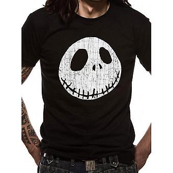 Nightmare Before Christmas Unisex Adult Jack Skellington Face T-Shirt