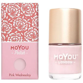 MoYou London Stamping Nail Lacquer - Pink Wednesday 9ml (MN144)
