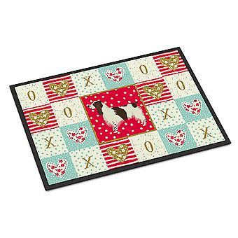 Caroline's Treasures Inglese Springer Spaniel Love Indoor o Outdoor Mat 18x27 zerbini, Multicolor