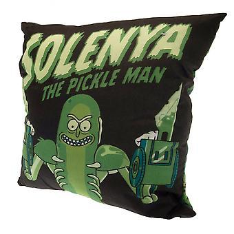 Rick En Morty Square Pickle Rick Gevuld Kussen