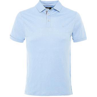 Hackett Lino a rayas Placket Polo Camisa