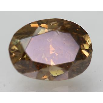 Cert 1.17 Karaat Geelbruin VS2 Oval Enhanced Natural Diamond 7.21x5.41mm