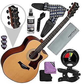 Tagima america série california-t guitare électrique acoustique, satin naturel avec bracelet de guitare et bundle d'accessoires