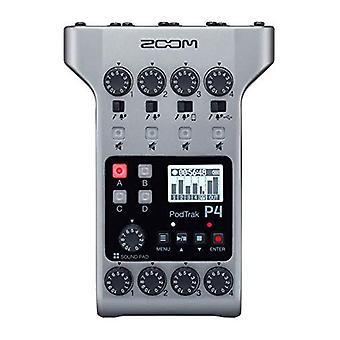 Zoom podtrak p4 podcastoptager, batteridrevet, 4 mikrofonindgange, 4 hovedtelefonudgange, telefonindgang, lydpuder, optag til sd-kort, ps75815