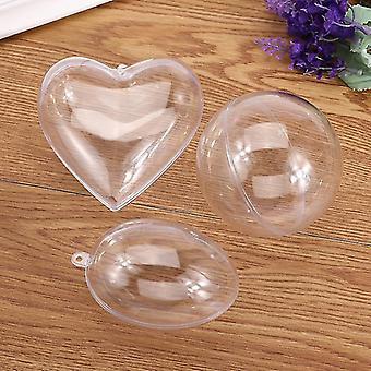 Klar bad bombe skimmel, runde / hjerte / æg Form Sphere Plastic Fillable Ball
