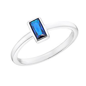 s.Oliver Jewel Damen Ring Silber 925 Zirkonia blau 203144