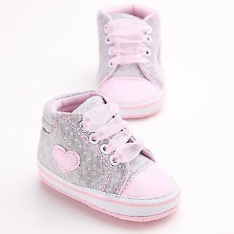 Nyfødt baby blød sål bomuld krybbe sko, anti-slip Sneaker Prewalker