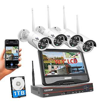 Kit telecamere di sicurezza wireless 8ch 3mp 1536p