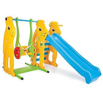 Pilsan 06140 Swing med rutsjebane, basketball hoop, bold fra 1 år op til 50 kg